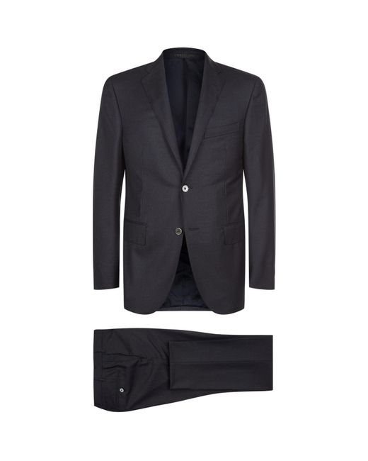 Corneliani Gray Virgin Wool Suit for men