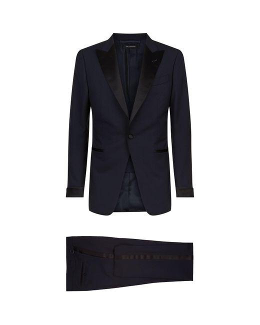 Tom Ford Blue O'connor Satin-trim Two-piece Tuxedo for men