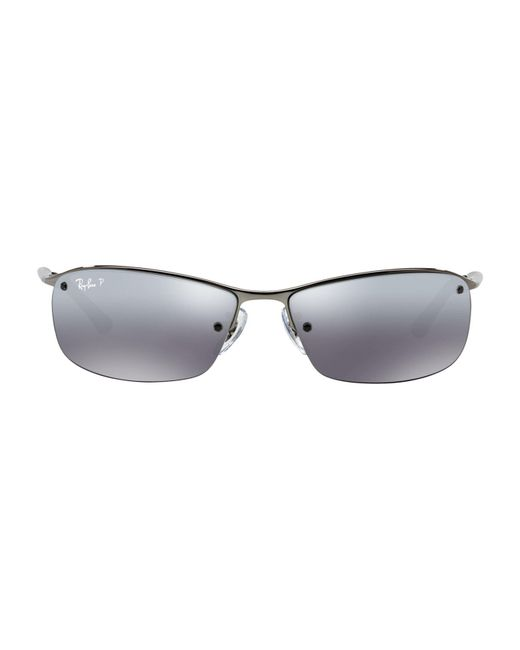 Ray-Ban - Gray Polarised Sunglasses for Men - Lyst