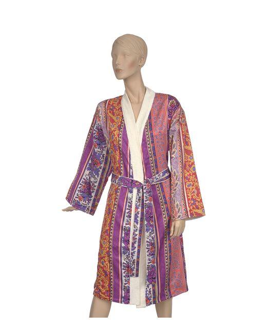 Etro Red Doubled Kimono Robe (large)