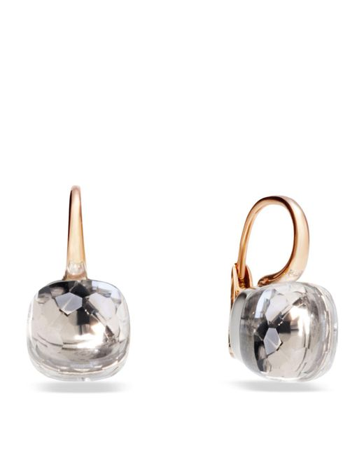 Pomellato | Nudo Clear Topaz Rose Gold Earrings, Pink | Lyst