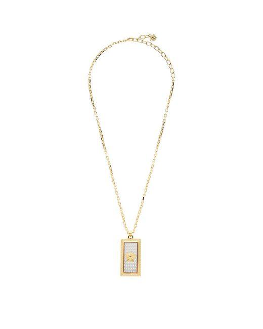 Versace | Metallic Medusa Plaque Pendant Necklace | Lyst