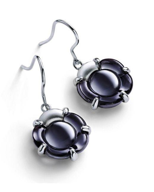 Baccarat - Blue B Flower Earrings - Lyst