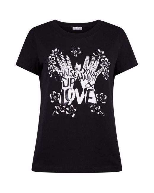 Claudie Pierlot Black Slogan Cotton T-shirt