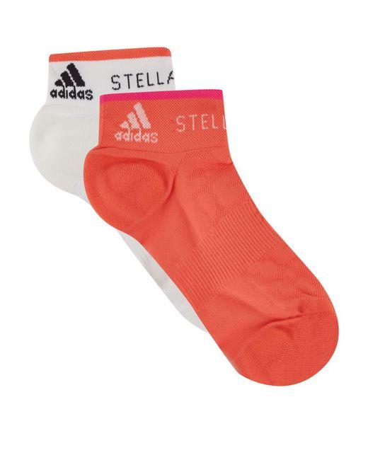 Adidas By Stella McCartney - Red Low Logo Socks (pack Of 2) - Lyst