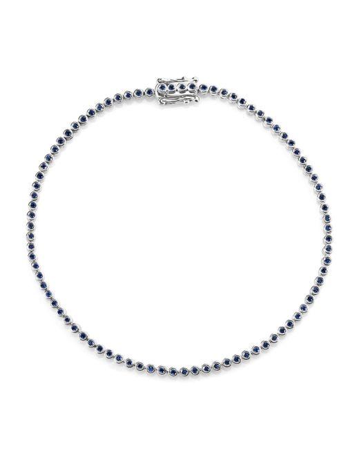 Sydney Evan - Blue White Gold Sapphire Eternity Bracelet - Lyst