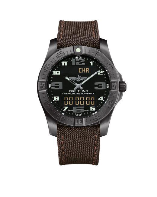 Breitling - Black Titanium Professional Aerospace Evo Watch 43mm for Men - Lyst