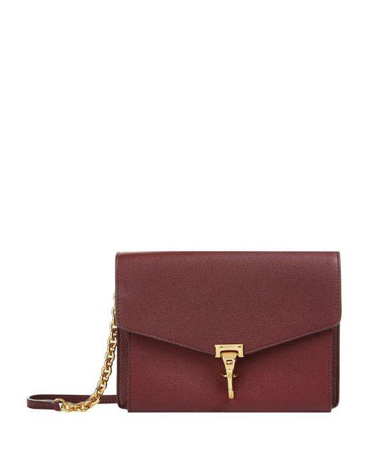 Burberry - Red Macken Leather Derby Crossbody Bag - Lyst