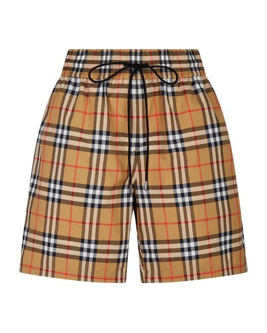 Burberry Yellow Vintage Check Shorts