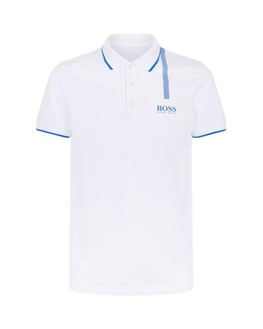 BOSS Green | White Paule Pro Polo Shirt for Men | Lyst