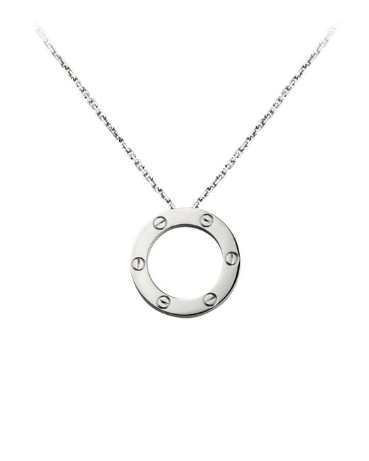 Cartier | Metallic White Gold Love Necklace | Lyst