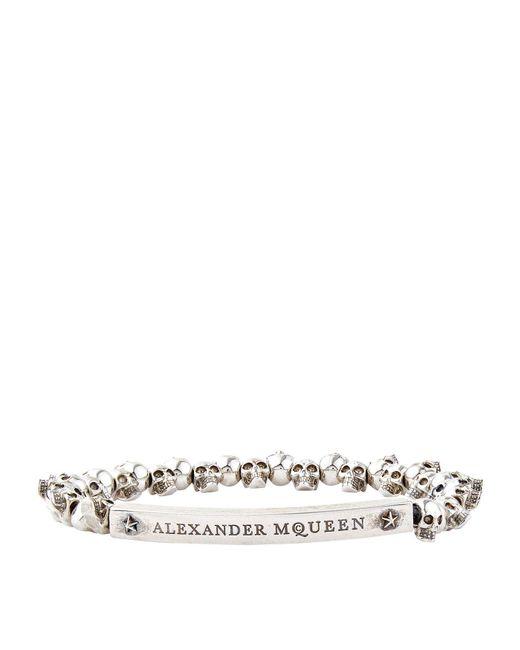 Alexander McQueen - Metallic Mini Skull Bracelet - Lyst