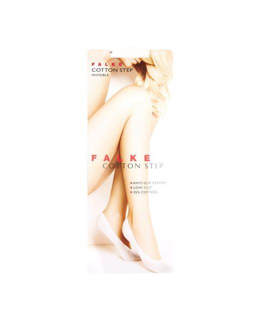 Falke White Cotton Step