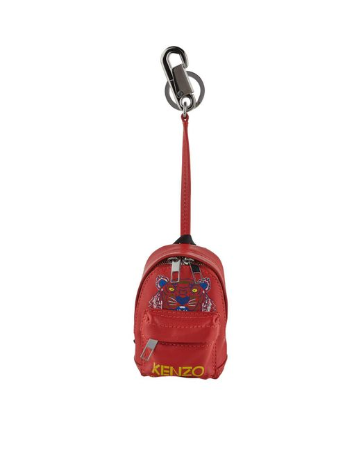 09b088c1 KENZO Mini Tiger Backpack Keyring in Red for Men - Lyst