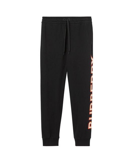 Burberry Black Logo Sweatpants