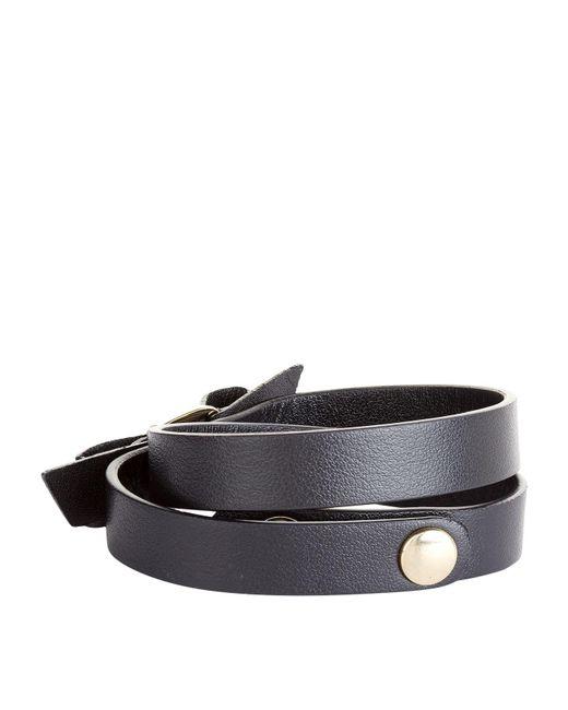 Ferragamo - Black Vara Double Wrap Bracelet - Lyst