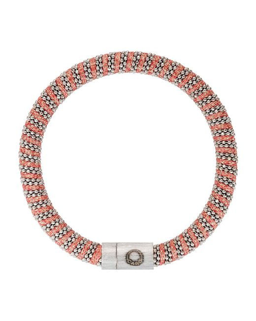 Carolina Bucci | Red Sterling Silver Woven Bracelet | Lyst