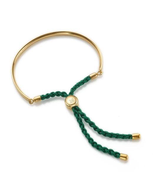 Monica Vinader - Fiji Friendship Bracelet, Green - Lyst