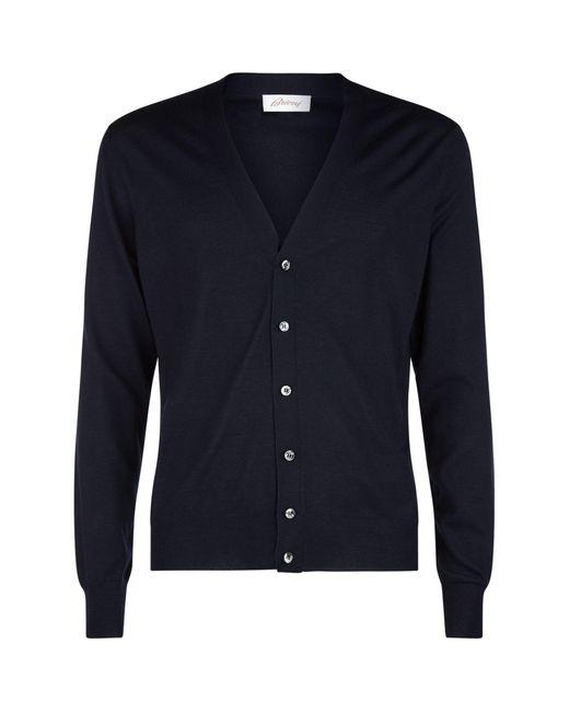Brioni Blue V-neck Cardigan for men