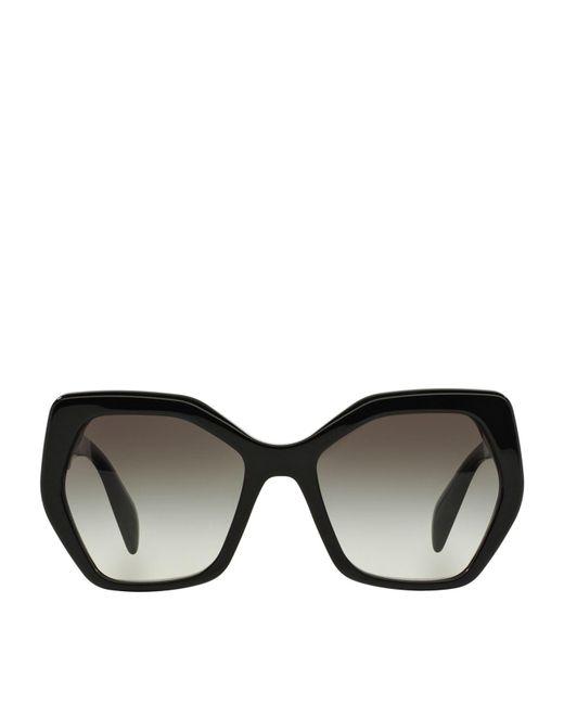 Prada - Black Irregular Sunglasses - Lyst