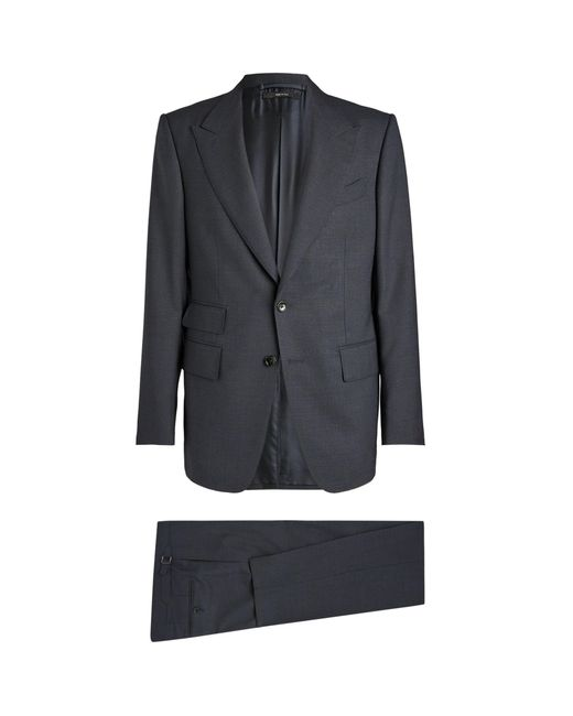 Tom Ford Blue Wool-blend Two-piece Shelton Suit for men