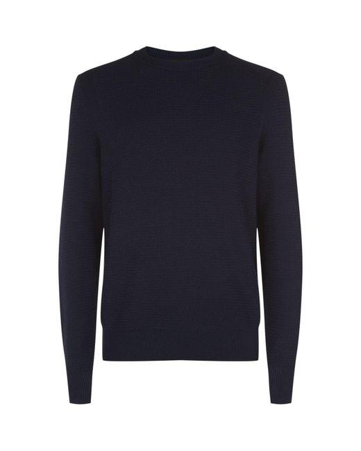 BOSS Orange   Blue Crew Neck Sweater for Men   Lyst
