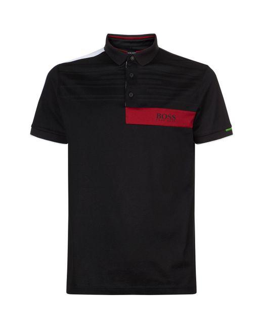BOSS Green - Black Paddy Mk1 Polo Shirt for Men - Lyst