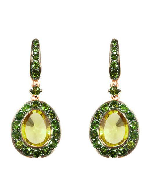 Annoushka | Metallic Dusty Diamonds Olive Quartz Earrings | Lyst