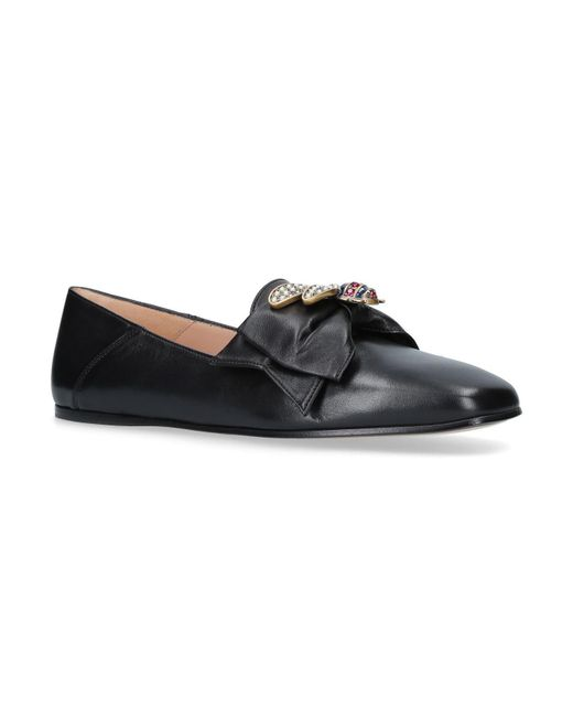 Gucci - Black Queen Margaret Loafers - Lyst