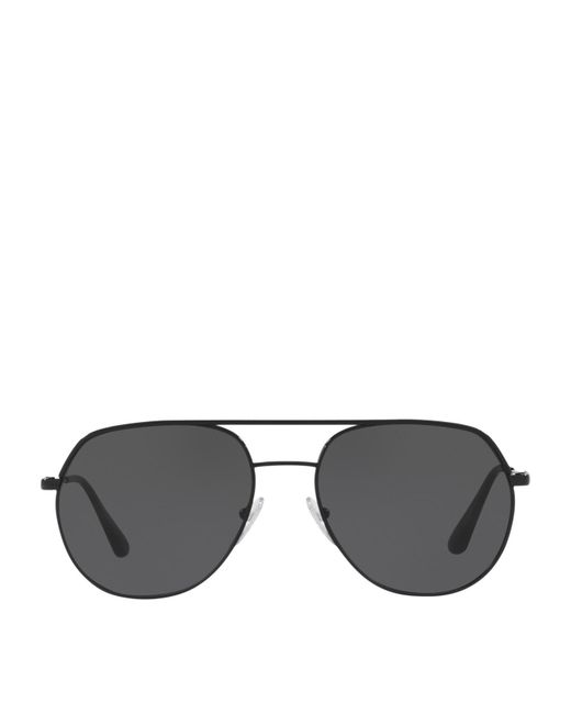 Prada - Black Irregular Sunglasses for Men - Lyst