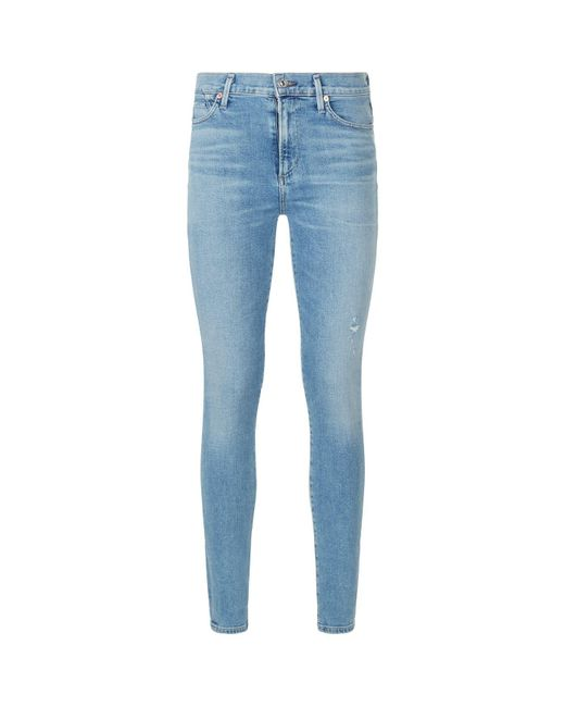 Citizens of Humanity - Blue Rocket Crop High-rise Skinny Jeans - Lyst