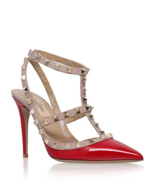 Valentino | Red Patent Rockstud 100 Pump | Lyst