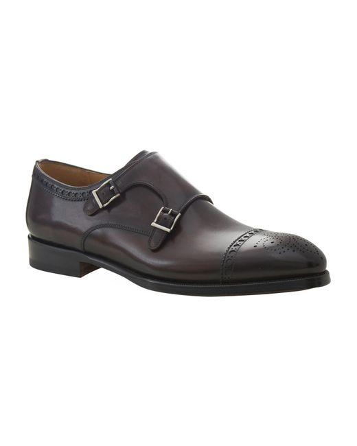 Magnanni Shoes | Red Villar Double Buckle Monk Shoe for Men | Lyst