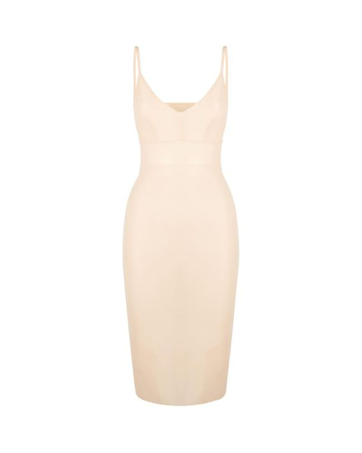 Roland Mouret Natural Jarndyce Crepe Fishtail Gown