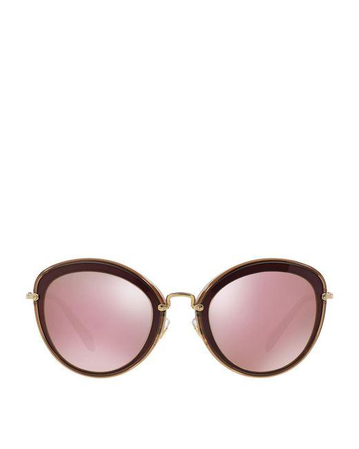Miu Miu | Red Cat Eye Sunglasses | Lyst