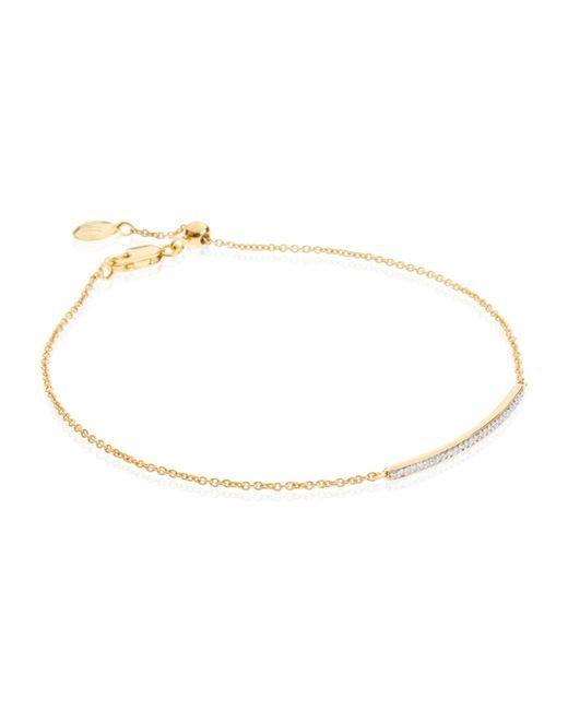 Monica Vinader   Metallic Skinny Short Bar Bracelet Diamond   Lyst