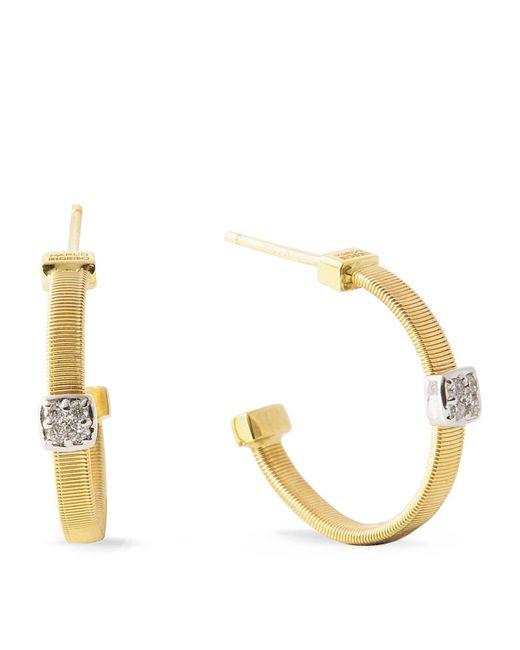 Marco Bicego | White Masai Size 1 Yellow Gold Diamond Earrings | Lyst