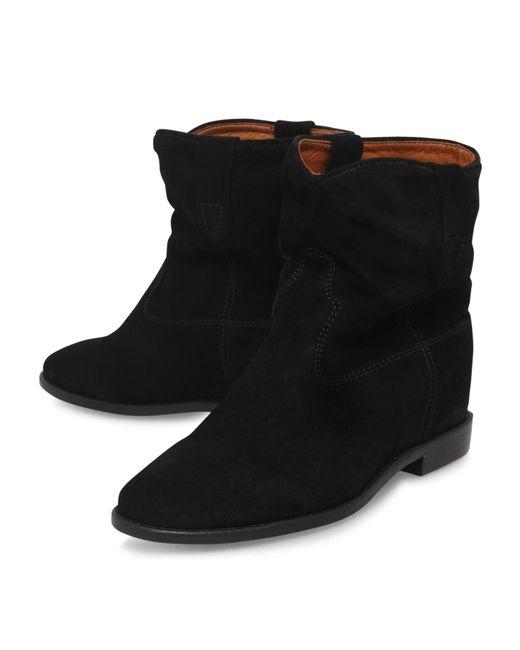 isabel marant crisi calfskin velvet boots save 39 lyst. Black Bedroom Furniture Sets. Home Design Ideas