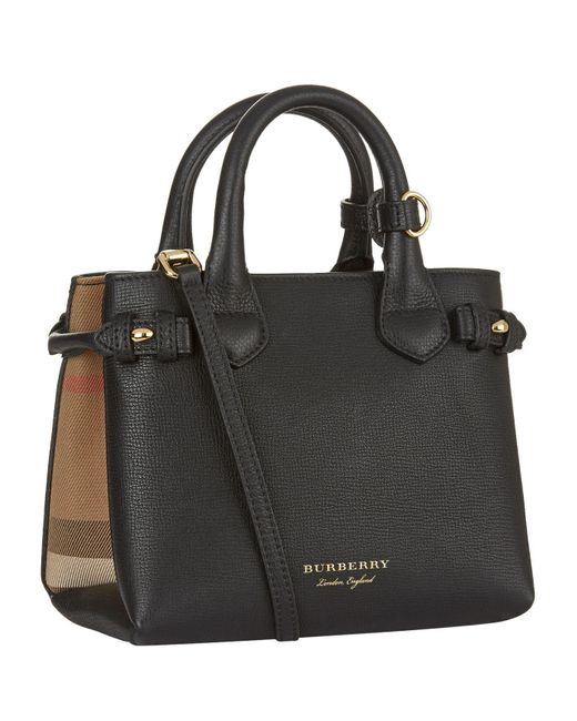 Burberry Baby Banner Tote Bag In Black Lyst
