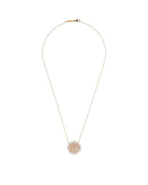 Suzanne Kalan | White Gold Diamond Burst Necklace | Lyst