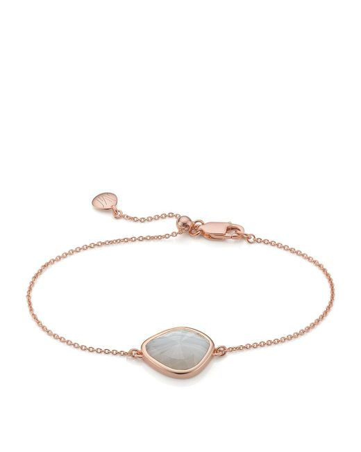 Monica Vinader | Metallic Siren Nugget Grey Agate Bracelet | Lyst