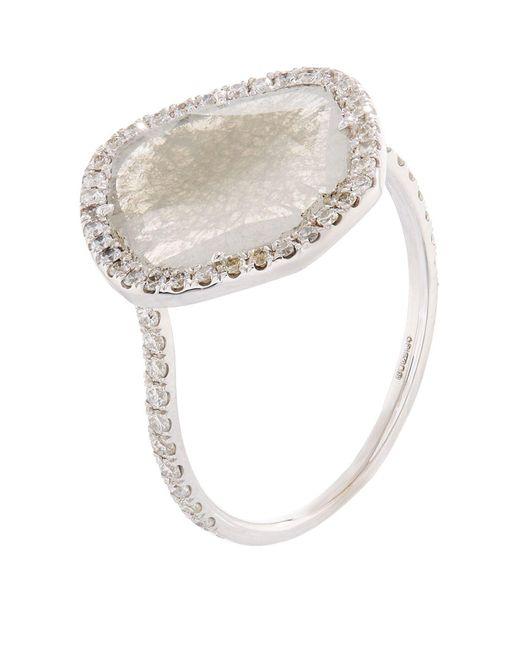 Susan Foster | Diamond Slice White Gold Ring | Lyst