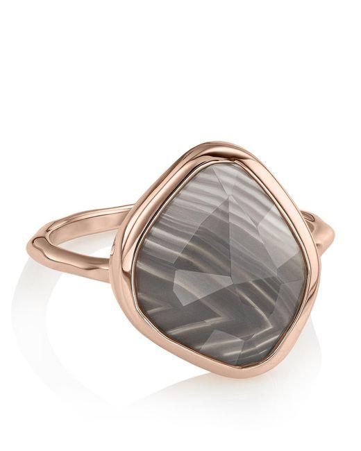 Monica Vinader   Metallic Siren Nugget Grey Agate Stacking Ring   Lyst