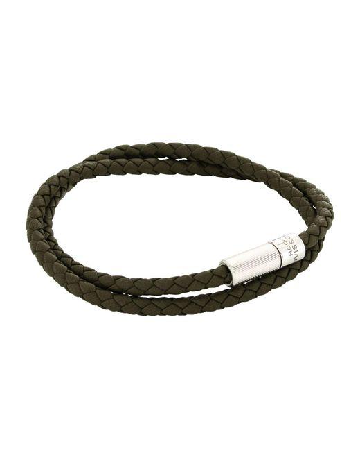 Tateossian | Green Scoubidou Leather Wrap Bracelet for Men | Lyst