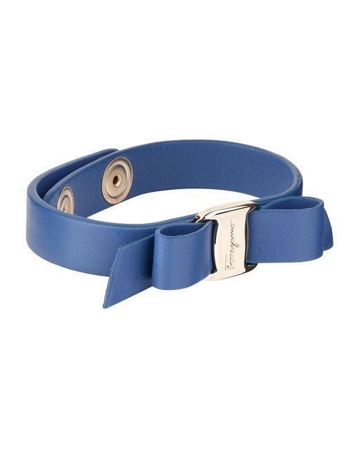 Ferragamo   Blue Vara Bow Bracelet   Lyst