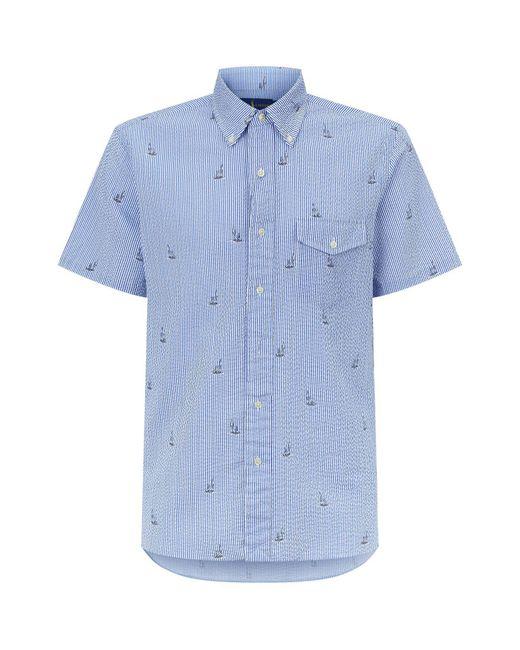 Polo Ralph Lauren - Blue Sailboat Seersucker Shirt for Men - Lyst