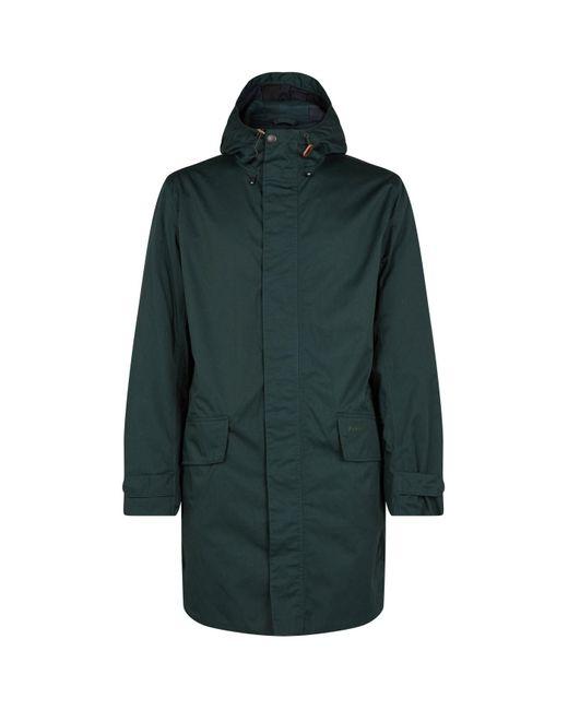 Barbour Green Waterproof Pershore Coat for men