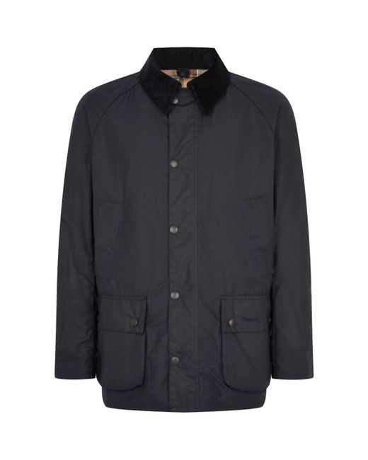 Barbour - Blue Ashby Waxed Jacket for Men - Lyst