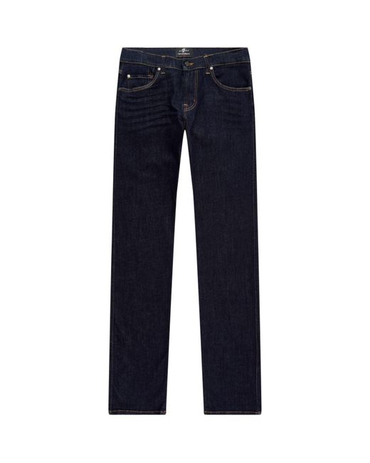 7 For All Mankind | Blue Kayden Slim Straight-fit Jeans for Men | Lyst