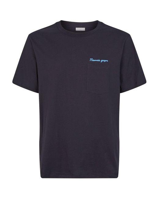 Sandro Blue Garçon Embroidered T-shirt for men